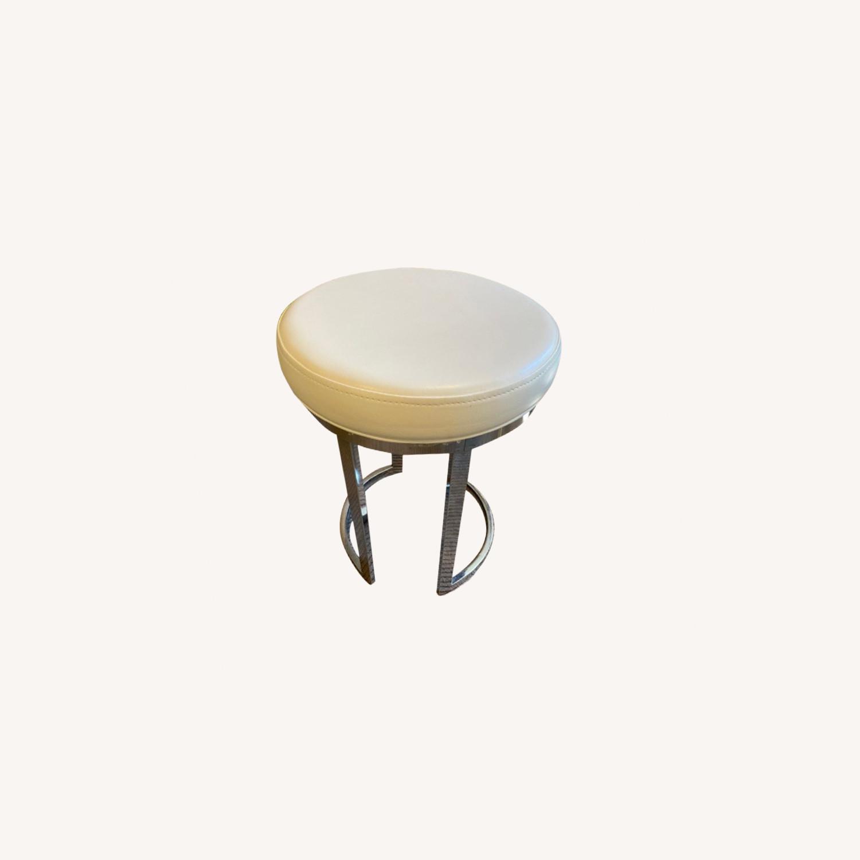 Wayfair Vanity Stool with Chrome Legs - image-0