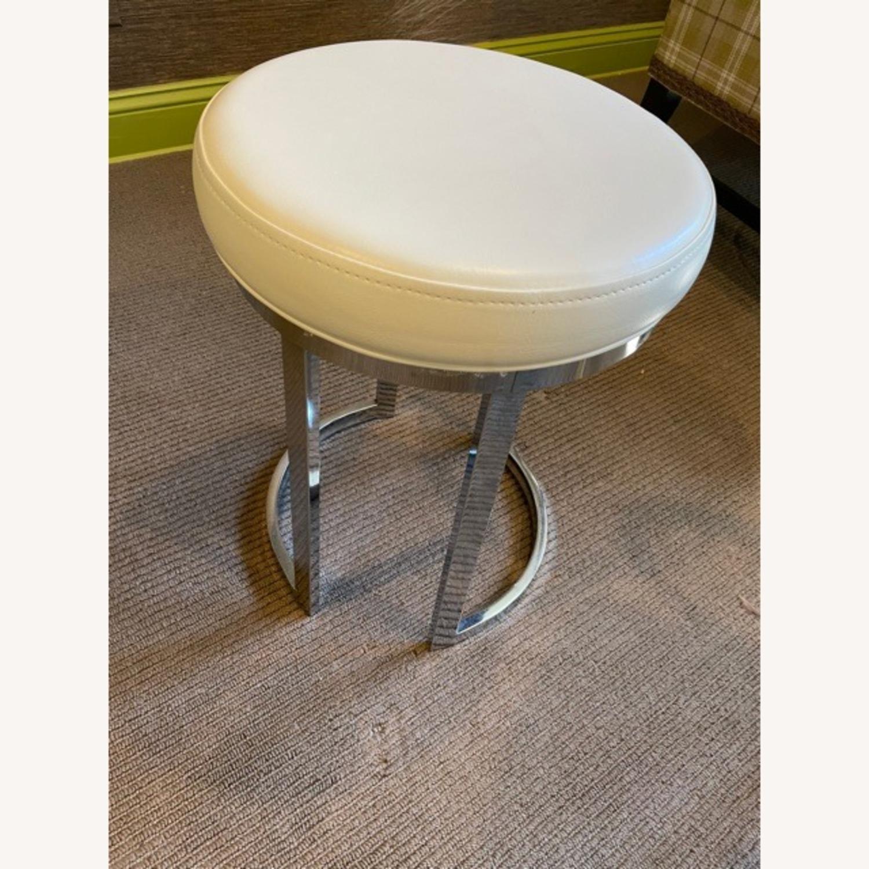 Wayfair Vanity Stool with Chrome Legs - image-2