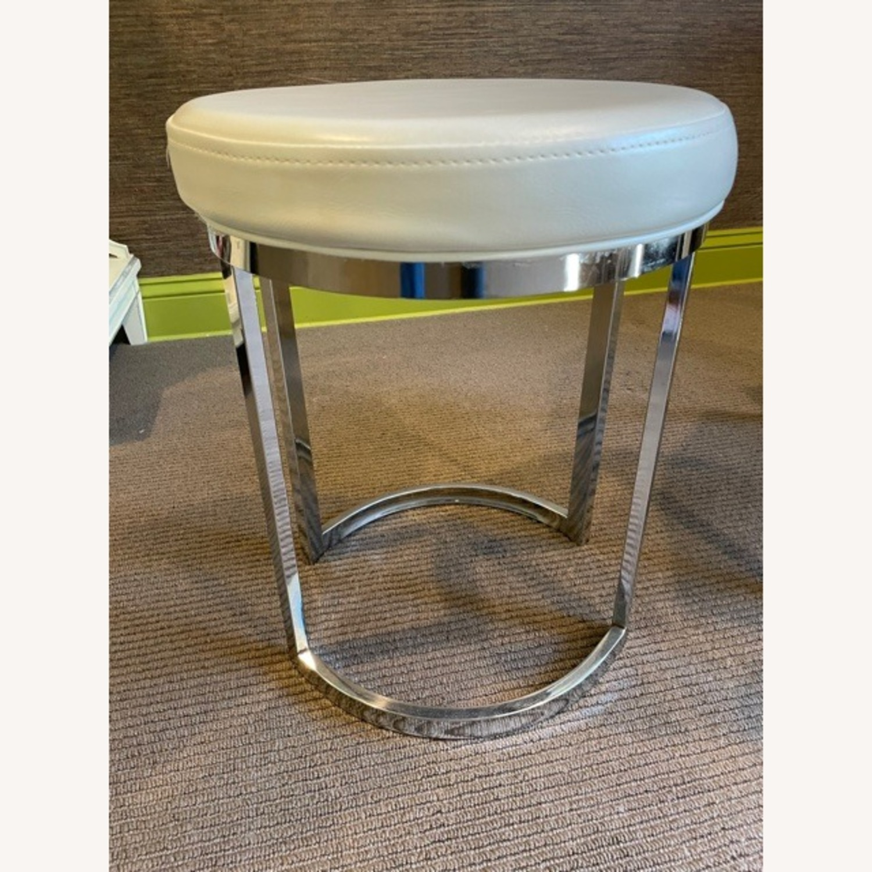 Wayfair Vanity Stool with Chrome Legs - image-4
