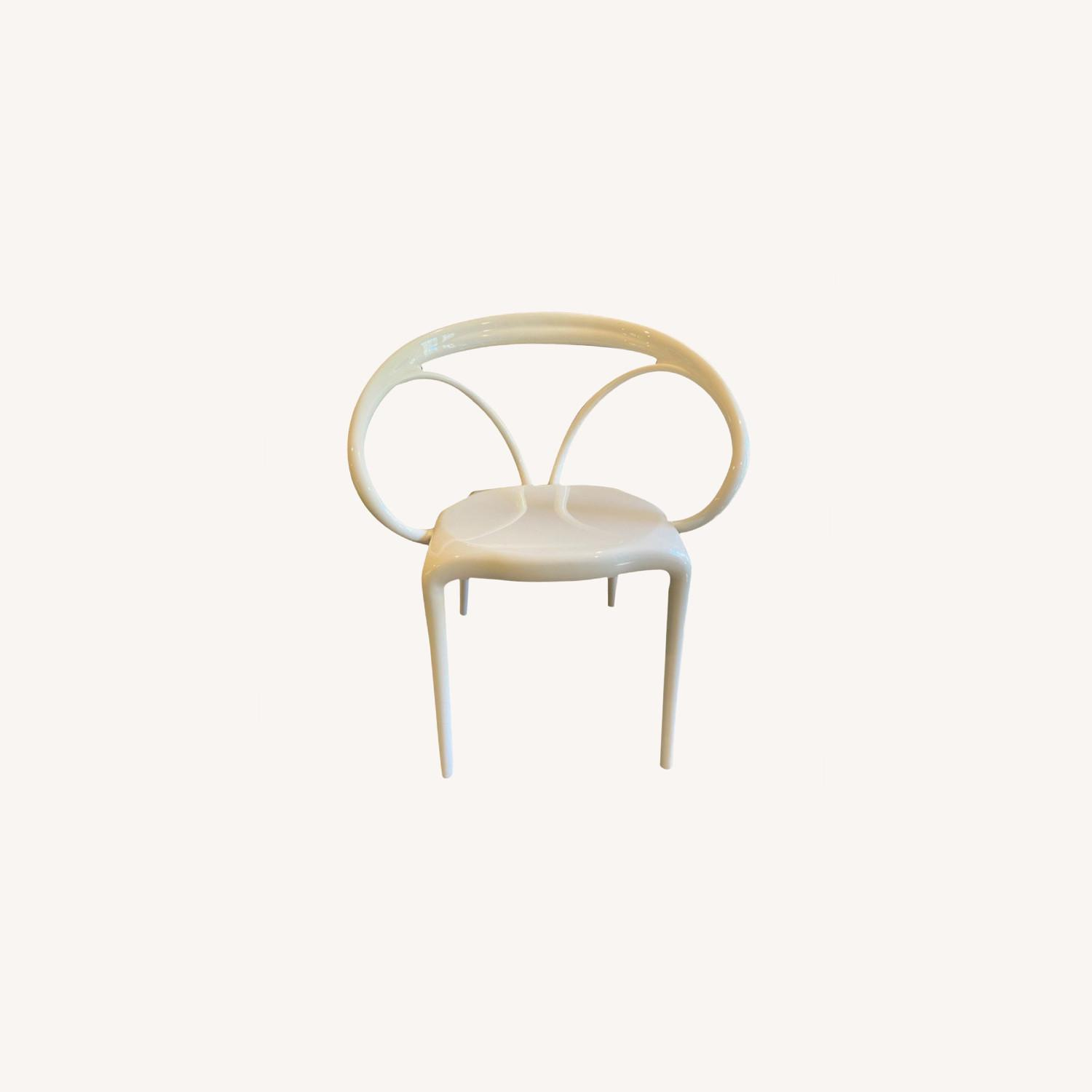 Wayfair Molded White Plastic Accent Chair - image-0