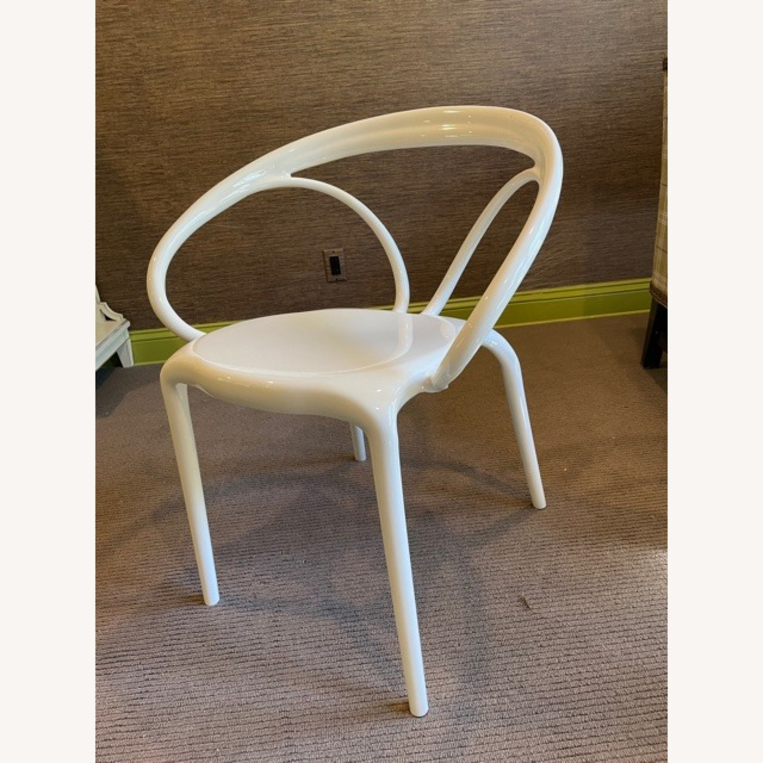 Wayfair Molded White Plastic Accent Chair - image-2