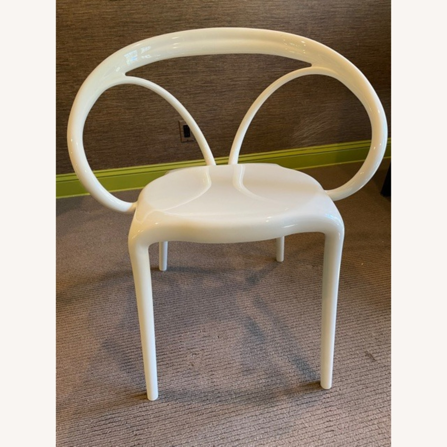 Wayfair Molded White Plastic Accent Chair - image-1