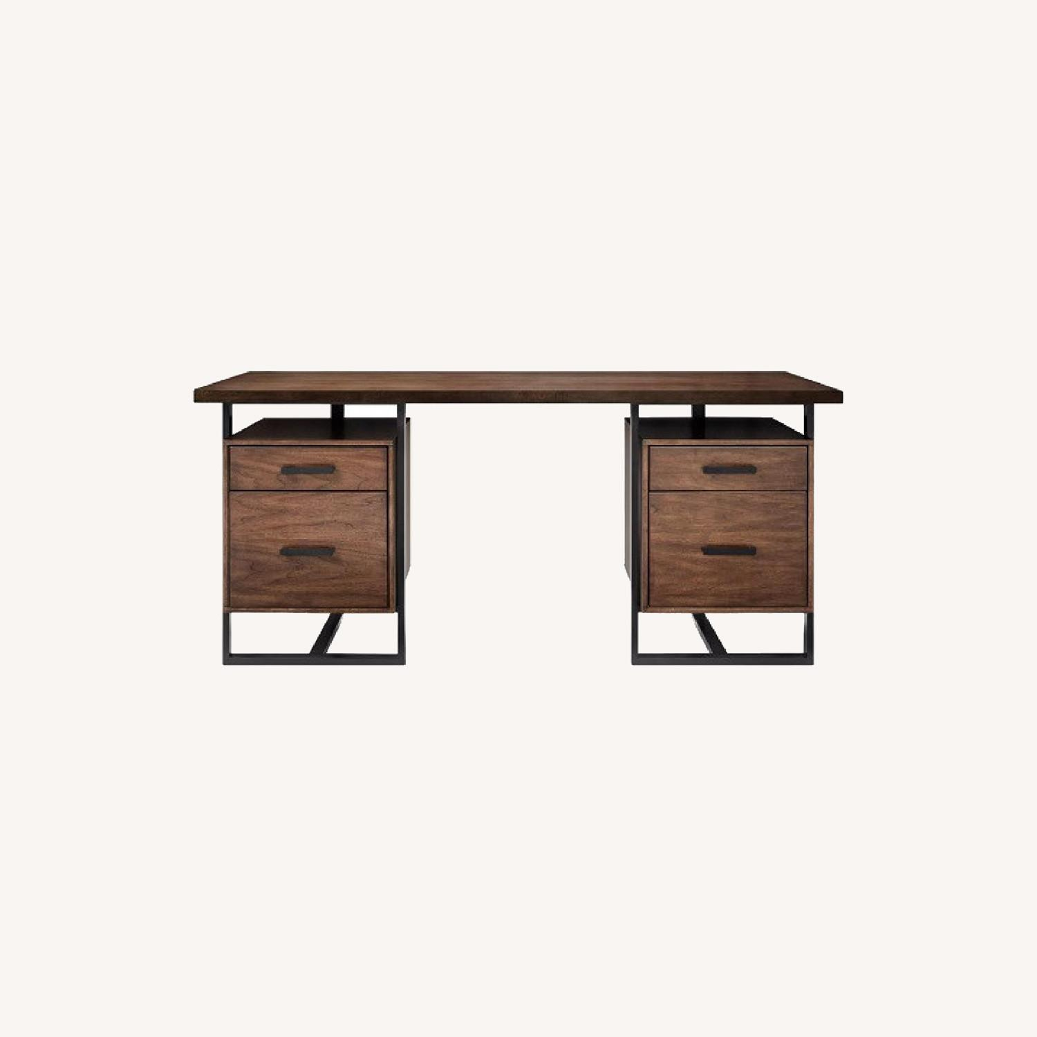 Raymour & Flanigan Chester Writing Desk 66 Wide 4 Drawers - image-0