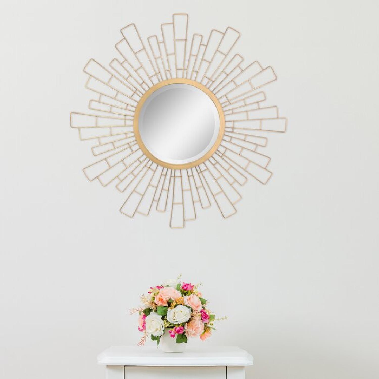 Wayfair Metal Sunburst Beveled Accent Mirror - image-4
