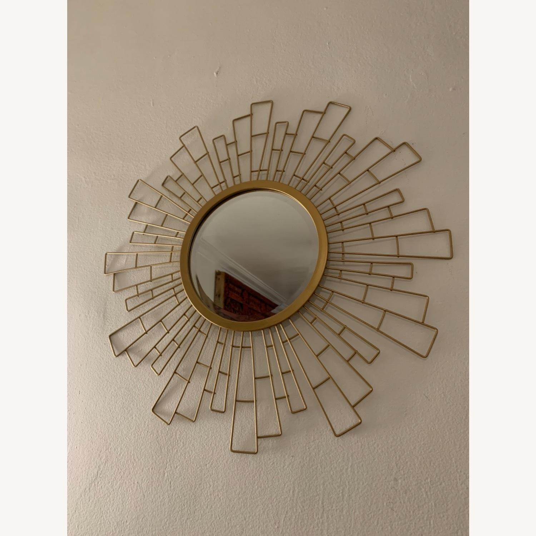 Wayfair Metal Sunburst Beveled Accent Mirror - image-1