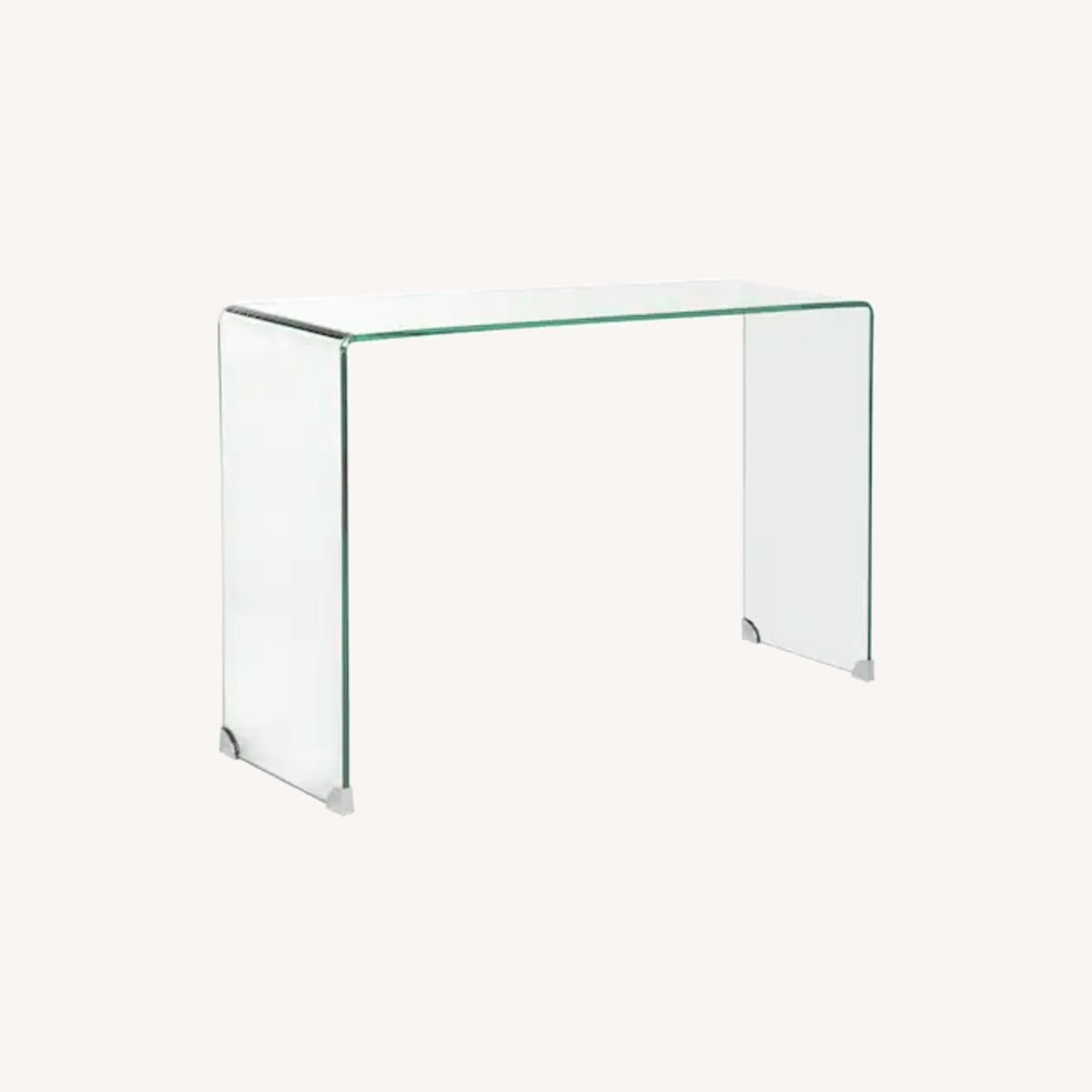 Safavieh Glass Waterfall Console Table Desk - image-0
