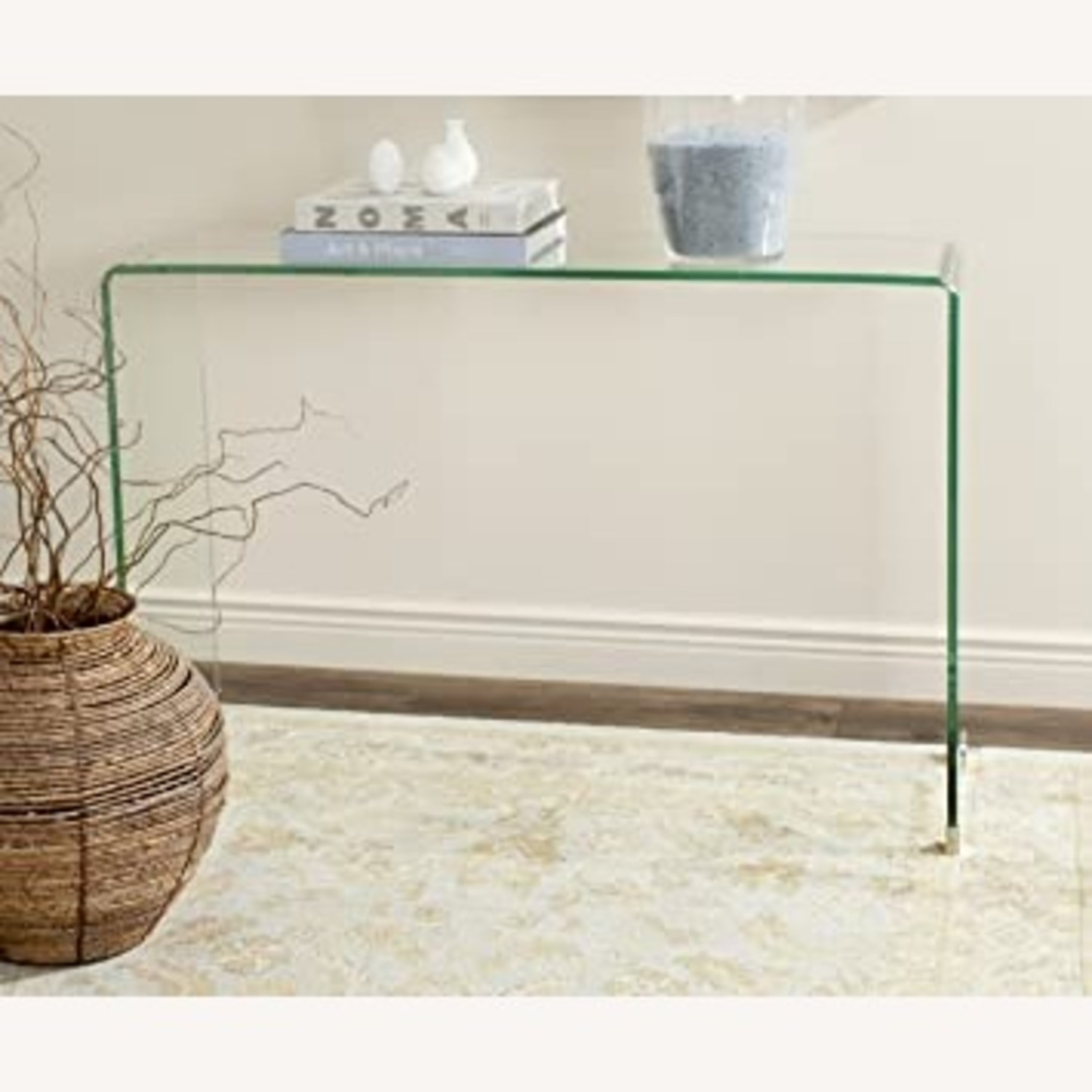 Safavieh Glass Waterfall Console Table Desk - image-2
