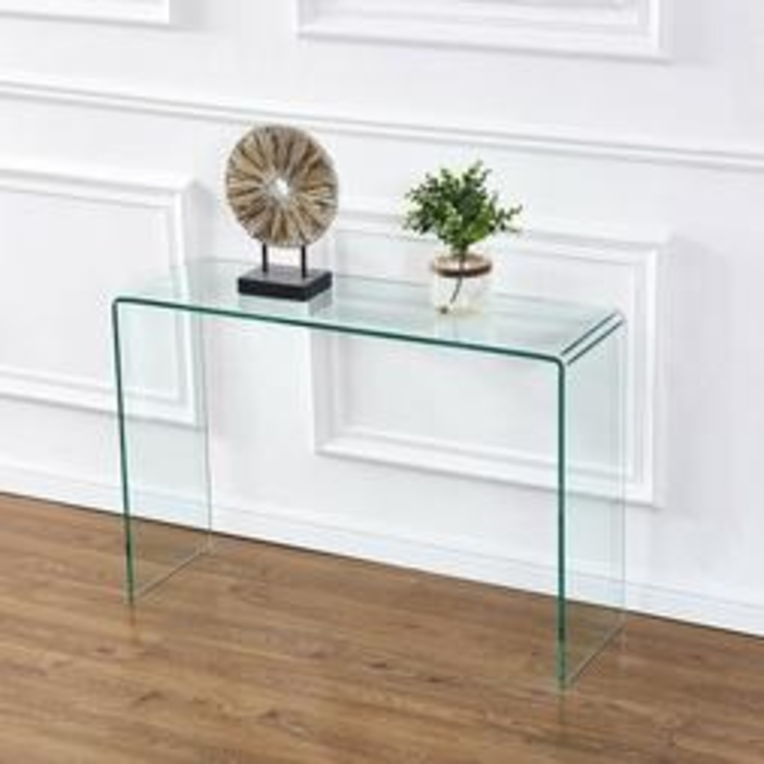 Safavieh Glass Waterfall Console Table Desk - image-1