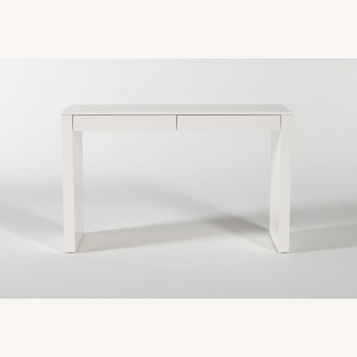IKEA White Waterfall Desk Console Table w Drawers - image-3