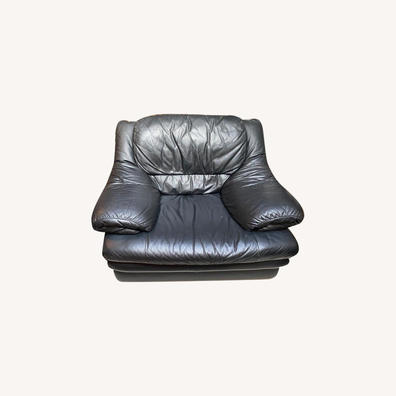 Calia Italia Leather Armchair - image-0