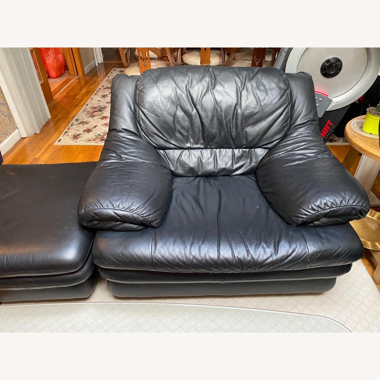 Calia Italia Leather Armchair - image-1