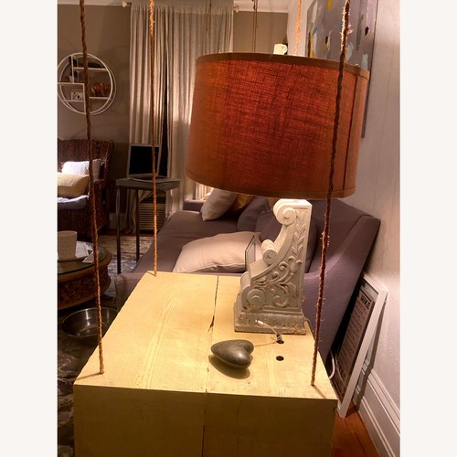 Used Home Goods Table Lamps with Burlap Shades Sturdy Bases. for sale on AptDeco