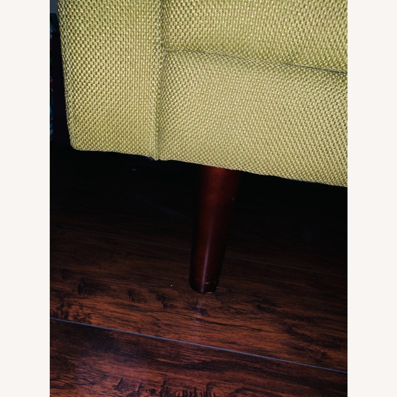 Anthropologie Green Olive Sleeper Sofa - image-4