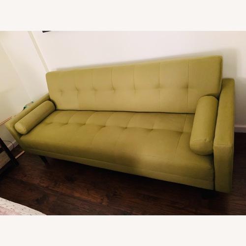 Used Anthropologie Green Olive Sleeper Sofa for sale on AptDeco