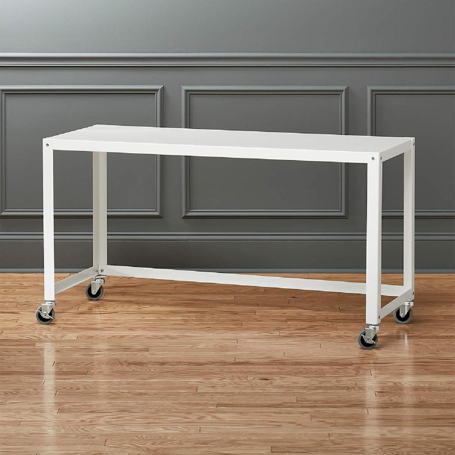 CB2 Go Cart Metal Rolling Desk  with Filing Cabinet - image-5