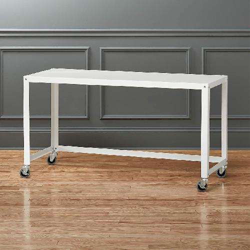 Used CB2 Go Cart Metal Rolling Desk  with Filing Cabinet for sale on AptDeco