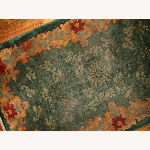 Used Handmade Antique Art Deco Chinese Rug, 1B398 for sale on AptDeco