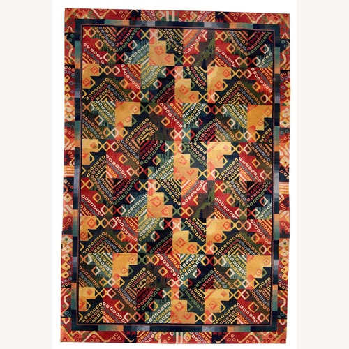 Used Hand made Vintage Art Deco Chinese Rug, 1B409 for sale on AptDeco