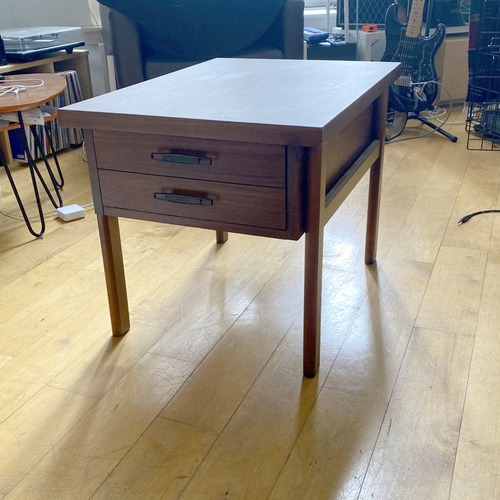 Used Lane Mid Century Side Table - Oak/walnut for sale on AptDeco