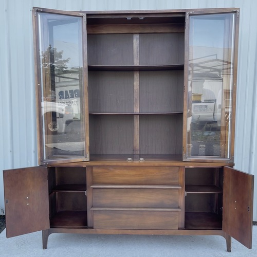 Used Mid-Century Sideboard With China Cabinet for sale on AptDeco