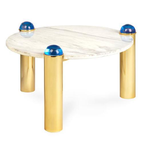 Used Jonathan Adler Globo Marble Coffee Table for sale on AptDeco