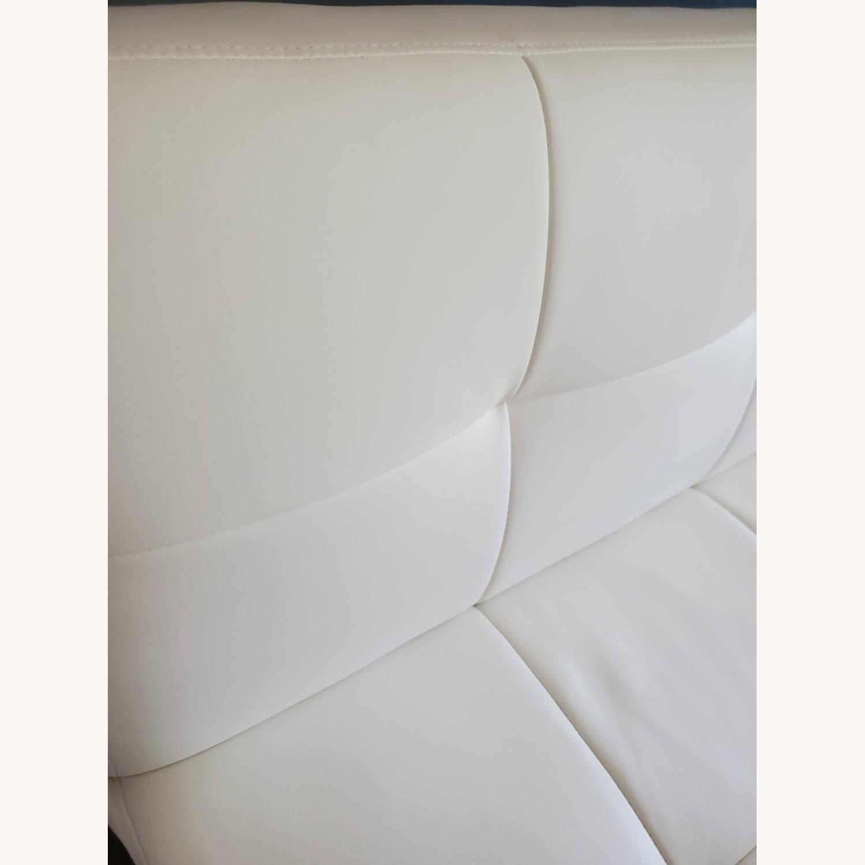 Wayfair White Faux Leather Futon - image-5