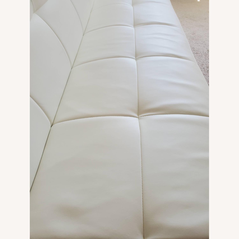 Wayfair White Faux Leather Futon - image-4