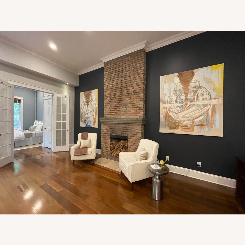 Wayfair Large White Armchair - image-4