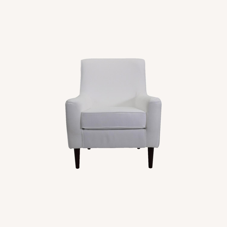 Wayfair Large White Armchair - image-0