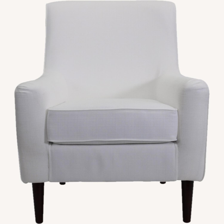 Wayfair Large White Armchair - image-1