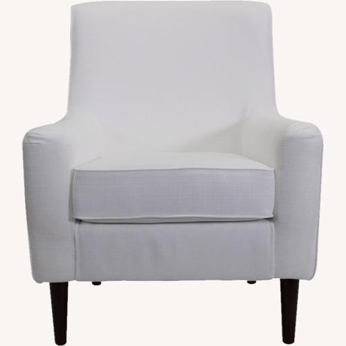 Used Wayfair Large White Armchair for sale on AptDeco