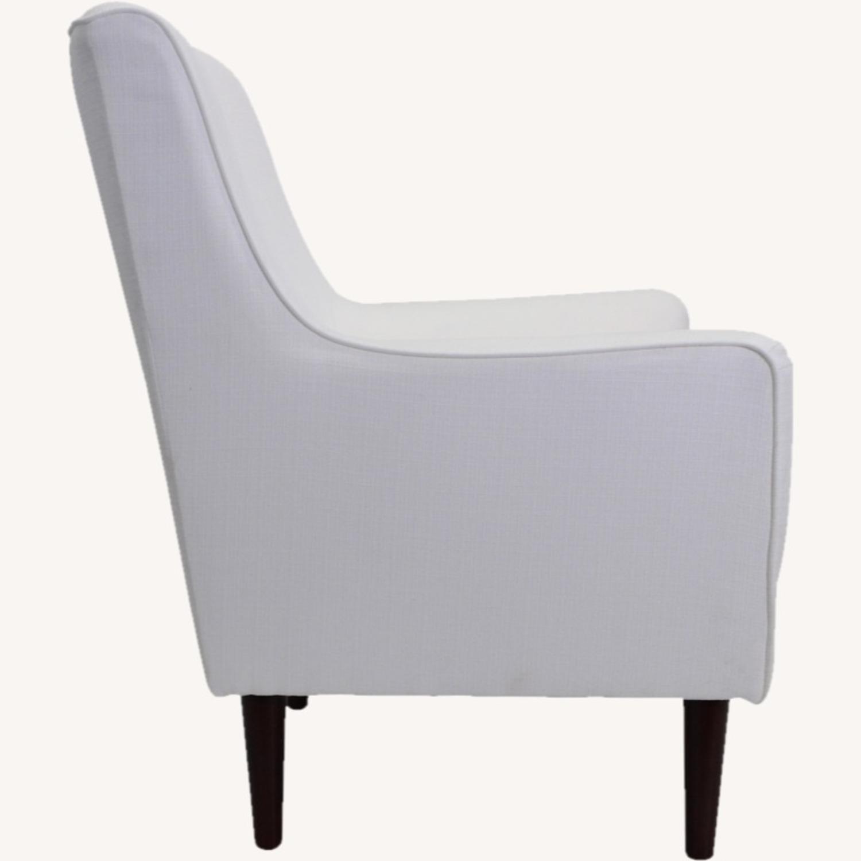 Wayfair Large White Armchair - image-2