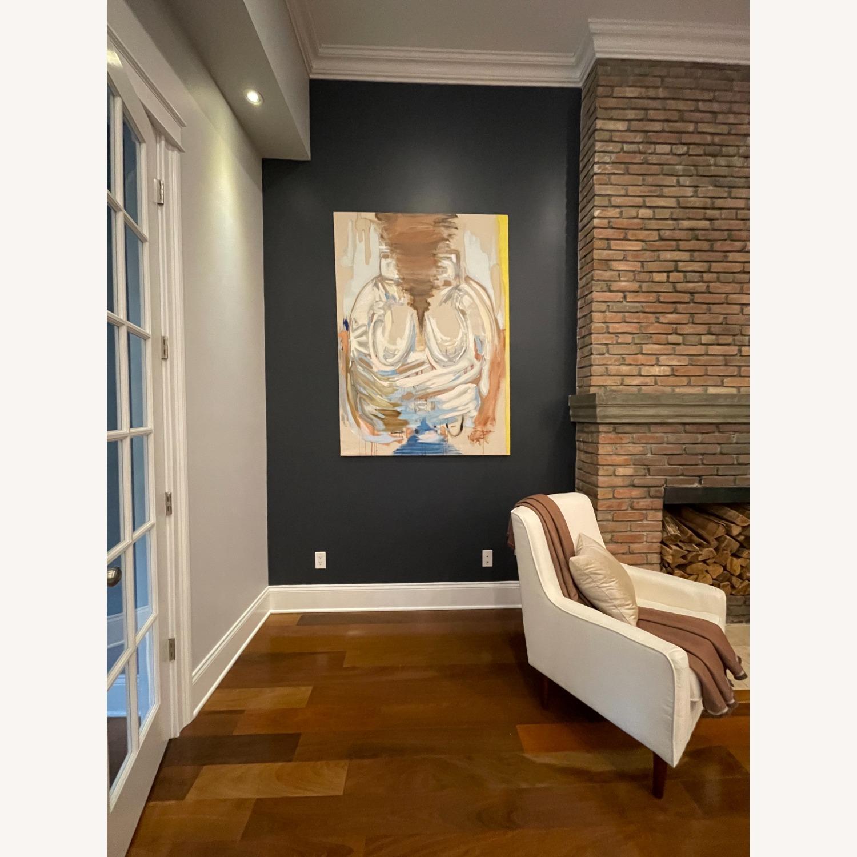 Wayfair Large White Armchair - image-6