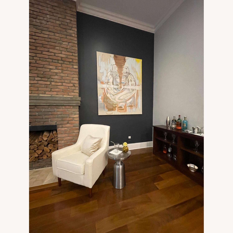 Wayfair Large White Armchair - image-5