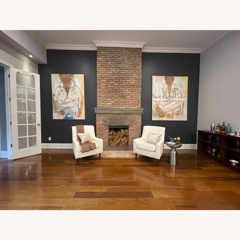 Wayfair Large White Armchair - image-7