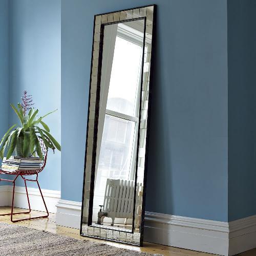 Used West Elm Antique Tiled Floor Mirror for sale on AptDeco