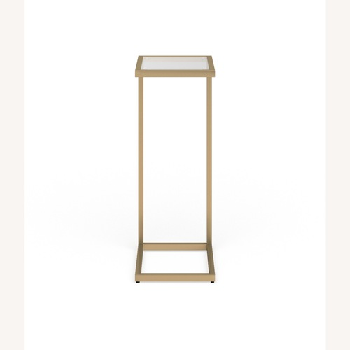 Used Gold and Glass Snack C-Shaped Table for sale on AptDeco