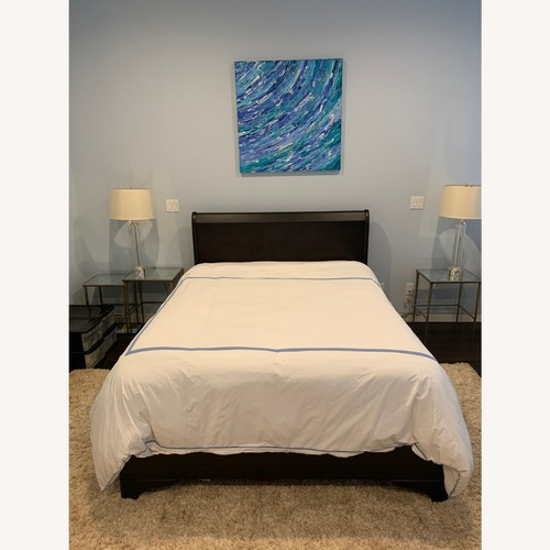 Used The Door Store Wood Sleigh Bed for sale on AptDeco