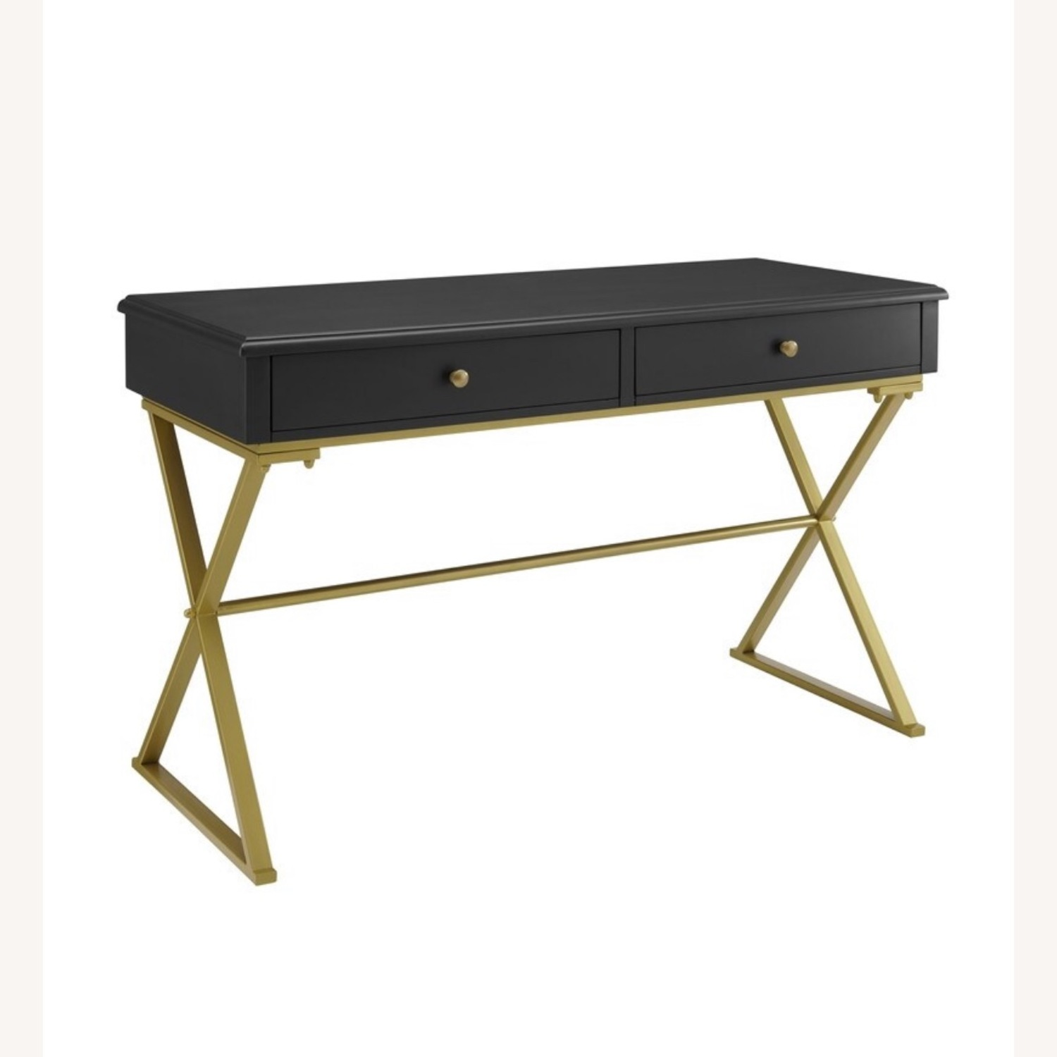 Black and Gold Campaign Style Desk - image-4