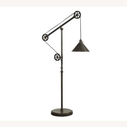 Used Pottery Barn Warren Pulley Task Floor Lamp for sale on AptDeco