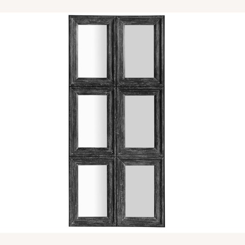 Used Pottery Barn Aiden Large Paneled Wall Mirror for sale on AptDeco