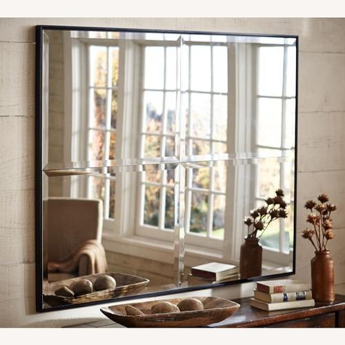 "Used Pottery Barn Brinkley Mirror, 30 x 42"", Black for sale on AptDeco"