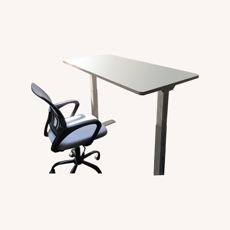 White Adjustable Height Desk - image-0