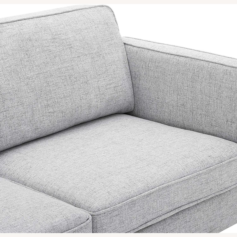 Retro Modern Style Sofa In Light Gray Fabric - image-4