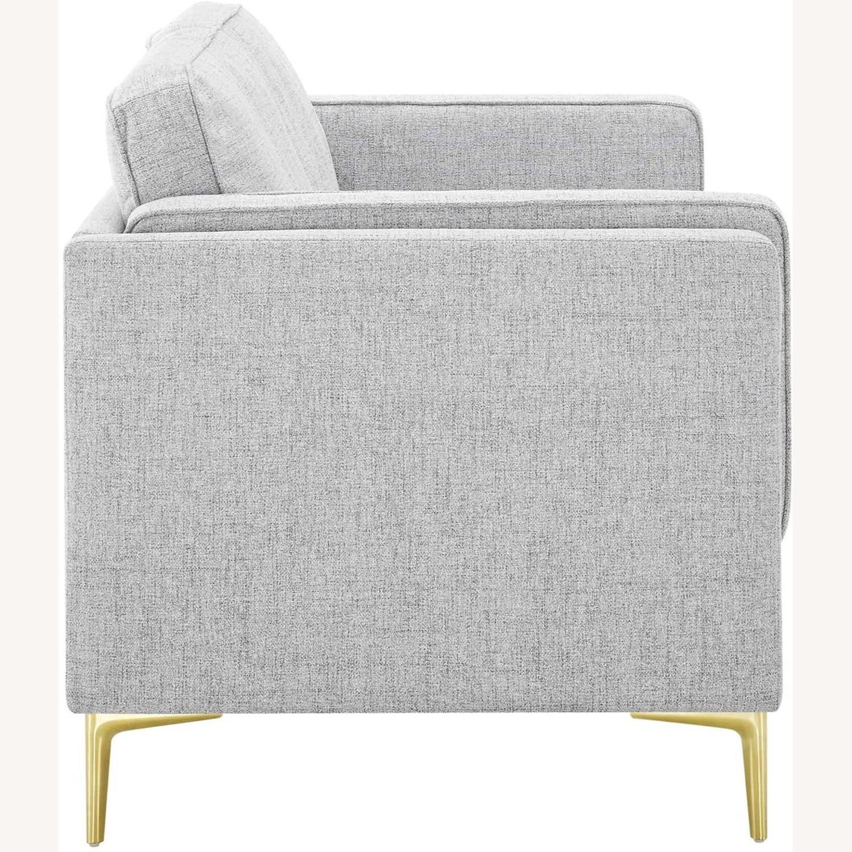 Retro Modern Style Sofa In Light Gray Fabric - image-3