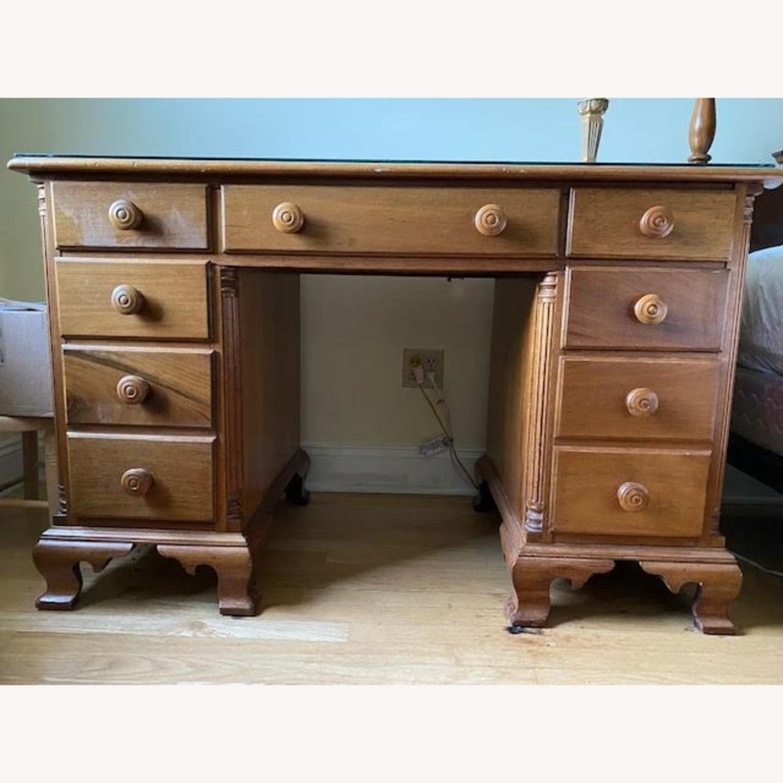 Antique Cherry Antique 7-Drawer Desk - image-0
