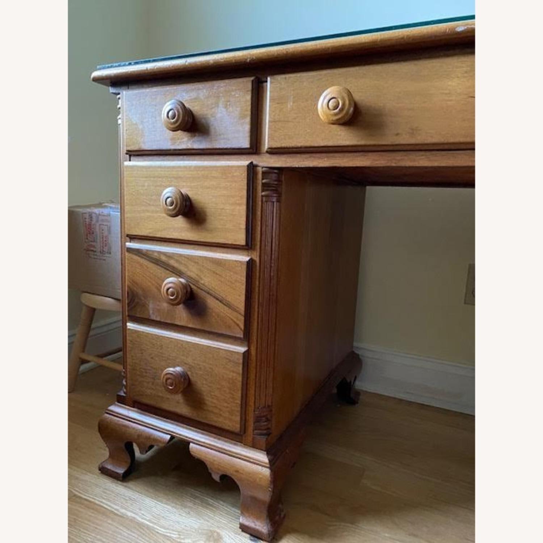 Antique Cherry Antique 7-Drawer Desk - image-2