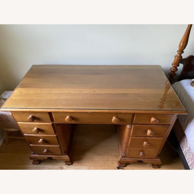Antique Cherry Antique 7-Drawer Desk - image-1