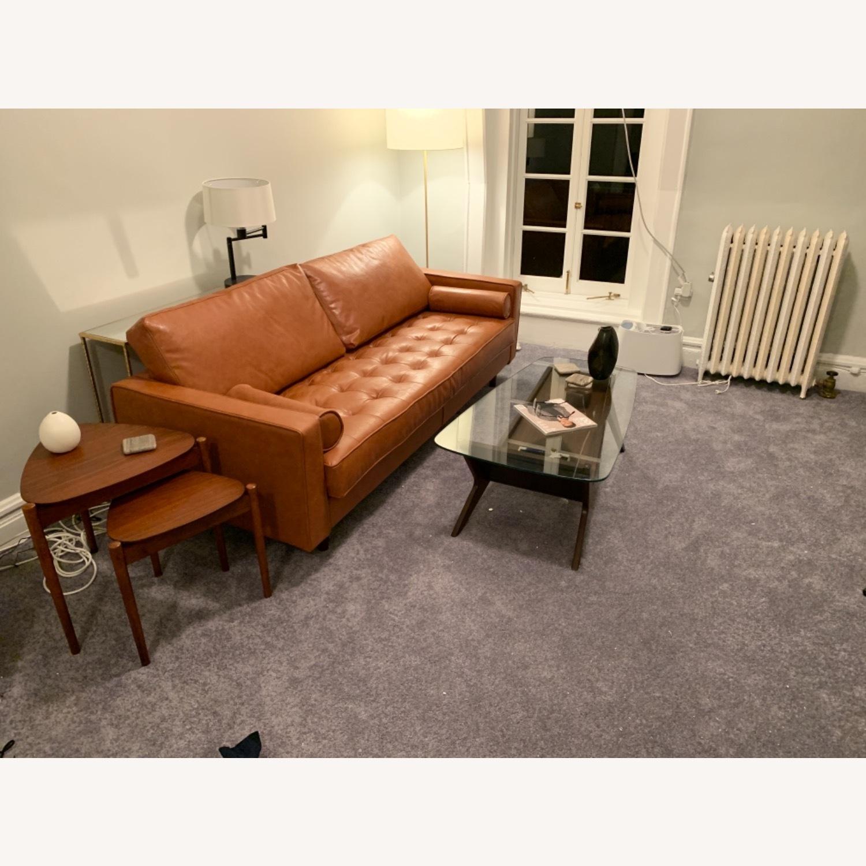 Wayfair Hailee 84'' Genuine Leather Square Arm Sofa - image-3