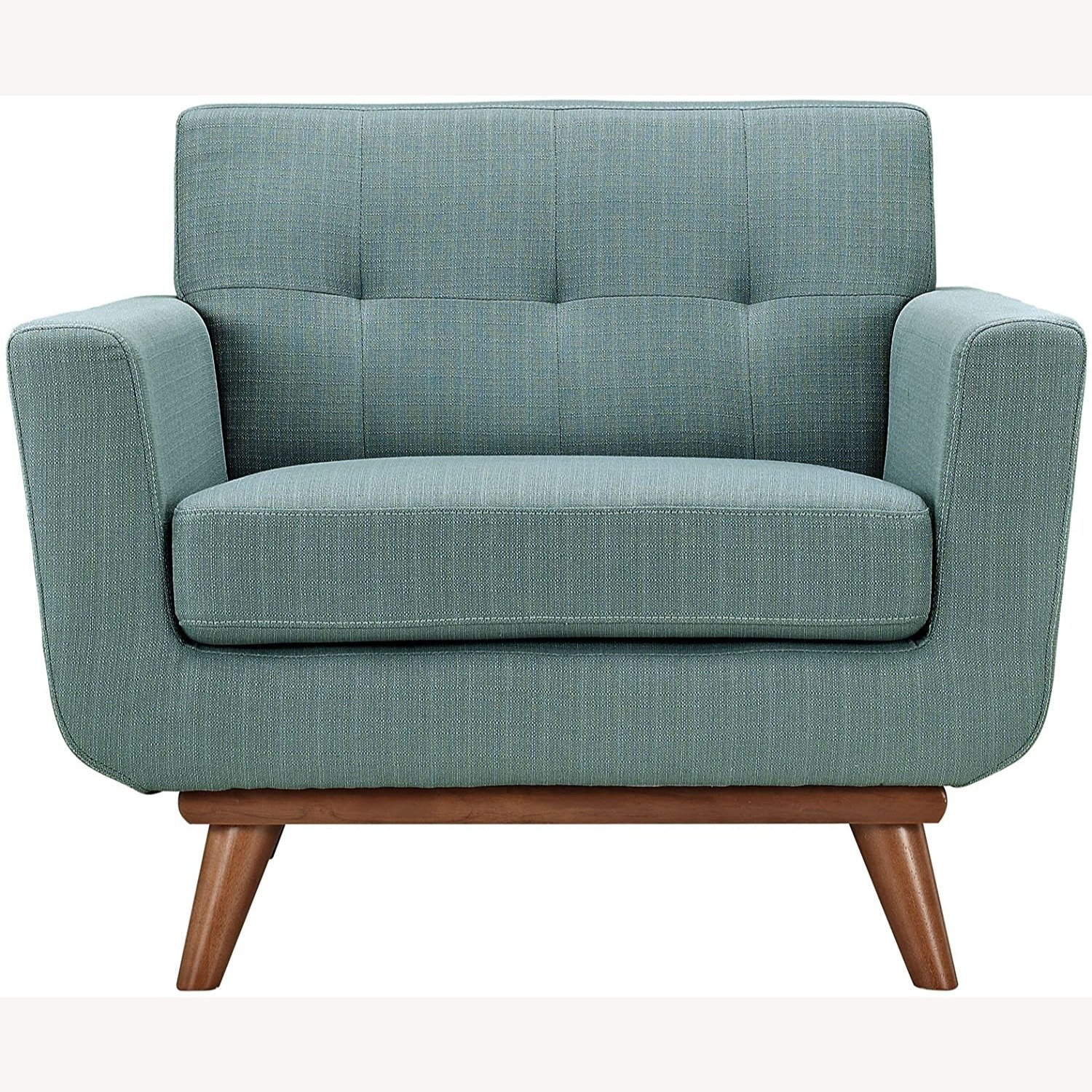 Armchair In Laguna Fabric W/ 3 Tufted Buttons - image-1